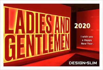 2020年 DESIGN+SLIM 年賀状