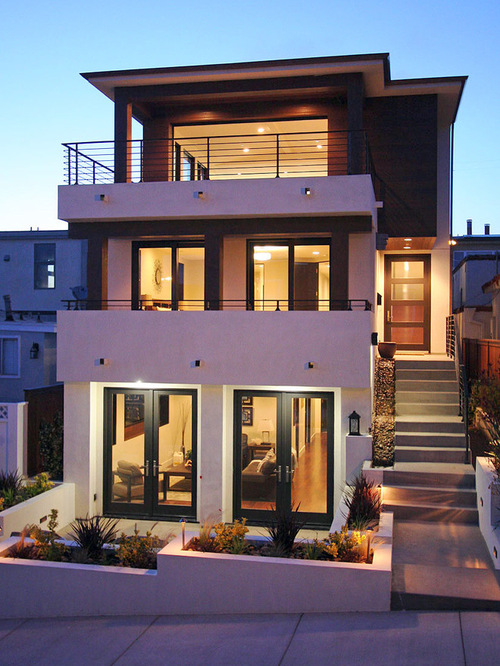 Collection 50 beautiful narrow house design for a 2 story for Small modern beach house