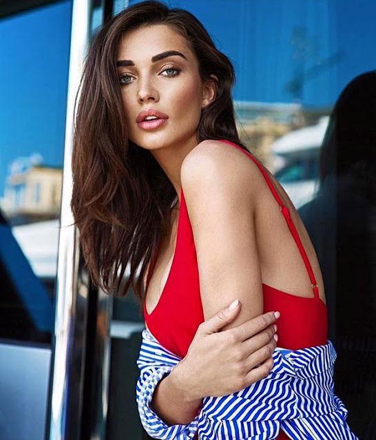 Amy Jackson heats it up in Monaco in a checked swimsuit