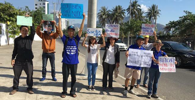 Nha Trang: An ninh sách nhiễu người tham gia tuần hành bảo vệ môi trường biển và yêu cầu minh bạch thông tin thảm hoạ môi trường