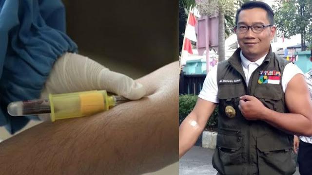 Netizen Curigai Foto Emil Saat Diambil Darah untuk Uji Vaksin China: Tutup Jarumnya Belum Kebuka?