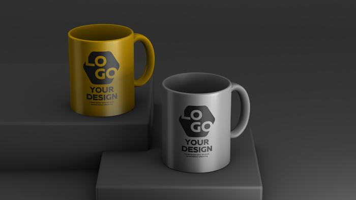 Mockup Two Color Ceramic Coffee Mug