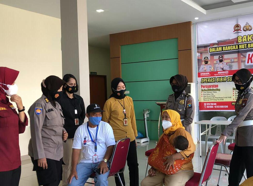 RS Bhayangkara Batam Gelar Baksos Operasi Bibir Sumbing dan Celah Langit-Langit