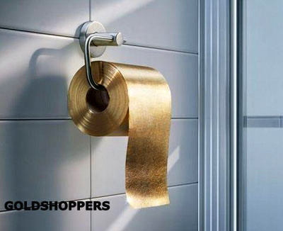 24 Karat Golden Leaf Toilet Paper Exclusive Custom Made Available For Purchase Price From 1750 And More Upon Request Mail Details Art Nr