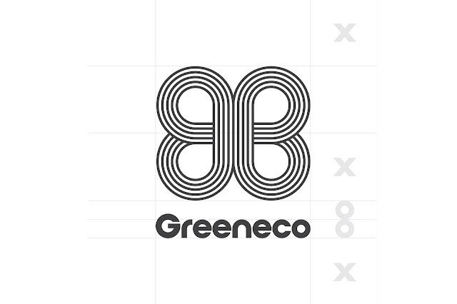 Logo design for Greeneco Renewable Energy logo design black and white
