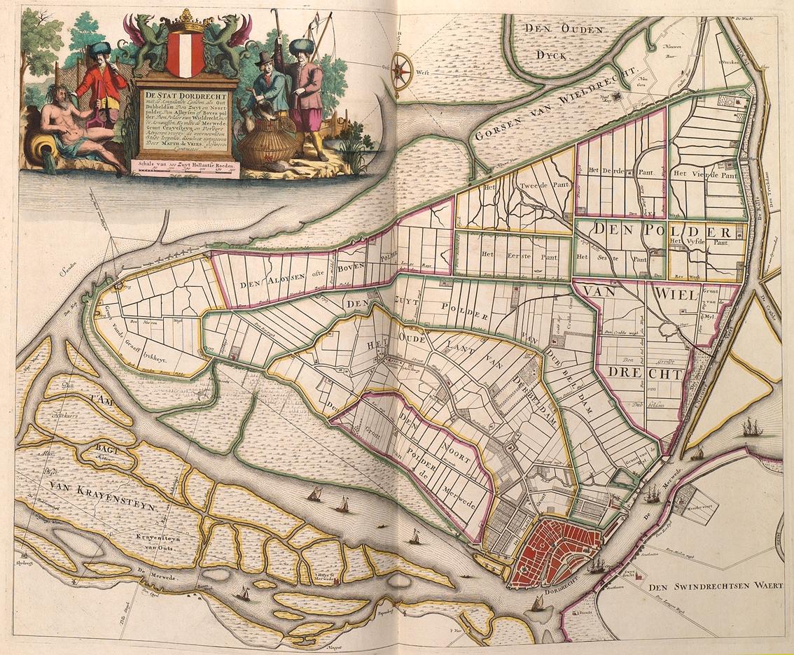 Atlas Der Neederlanden Eiland Van Dordrecht Uitgave Matthijs De