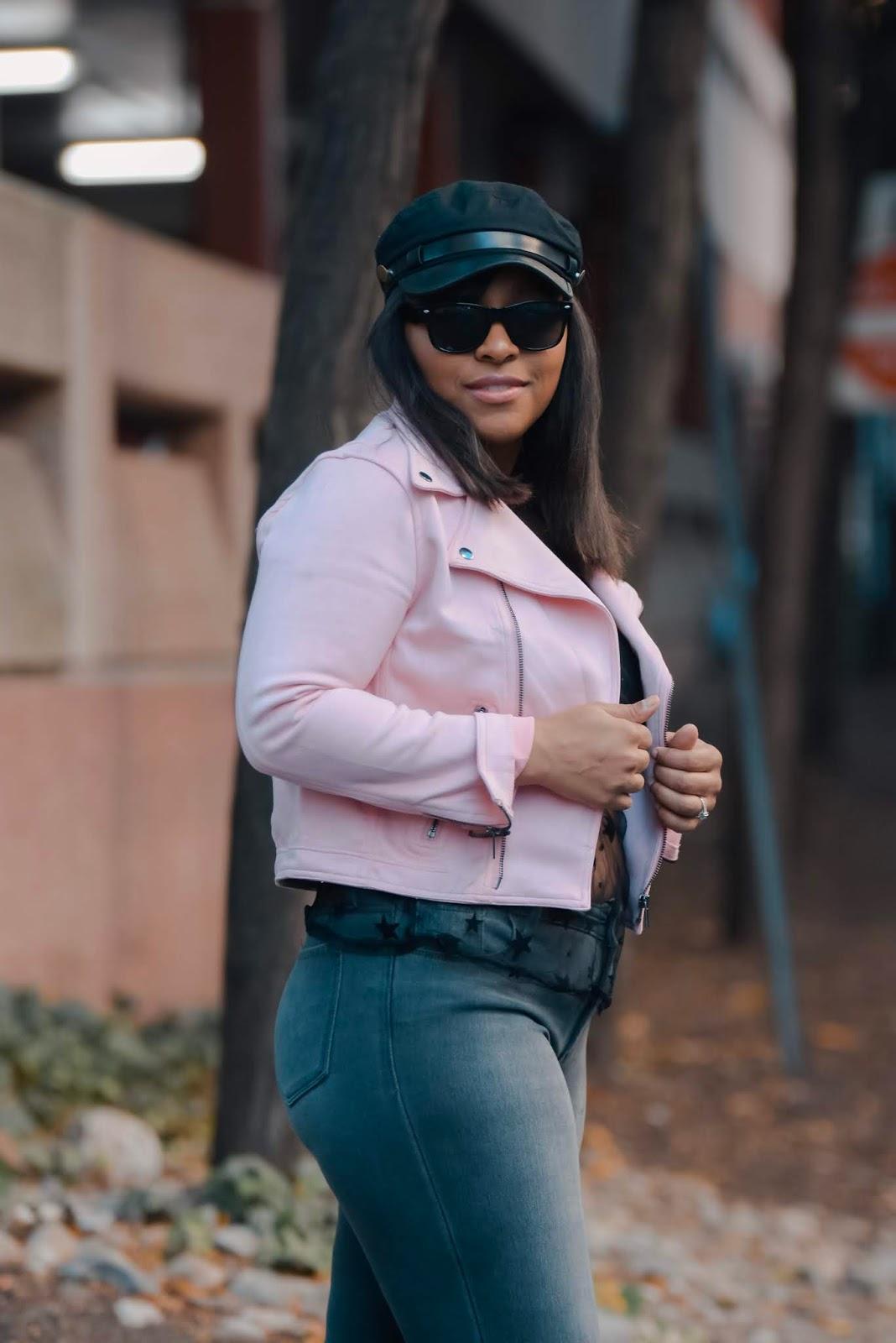 pink Moto jacket, fall fashion, fall jackets, pink jackets