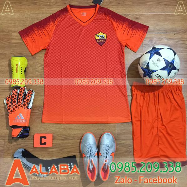 Áo CLB AS Roma màu cam đẹp