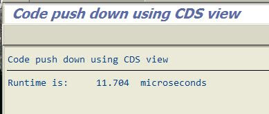 ABAP new Open SQL and CDS runtime