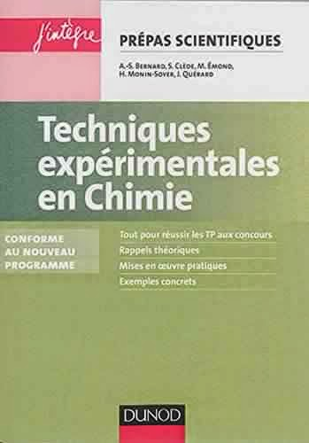 Livre : Techniques expérimentales en Chimie - Réussir les TP aux concours