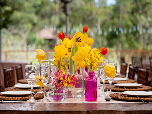 casamento vintage com toque moderno amarelo e rosa