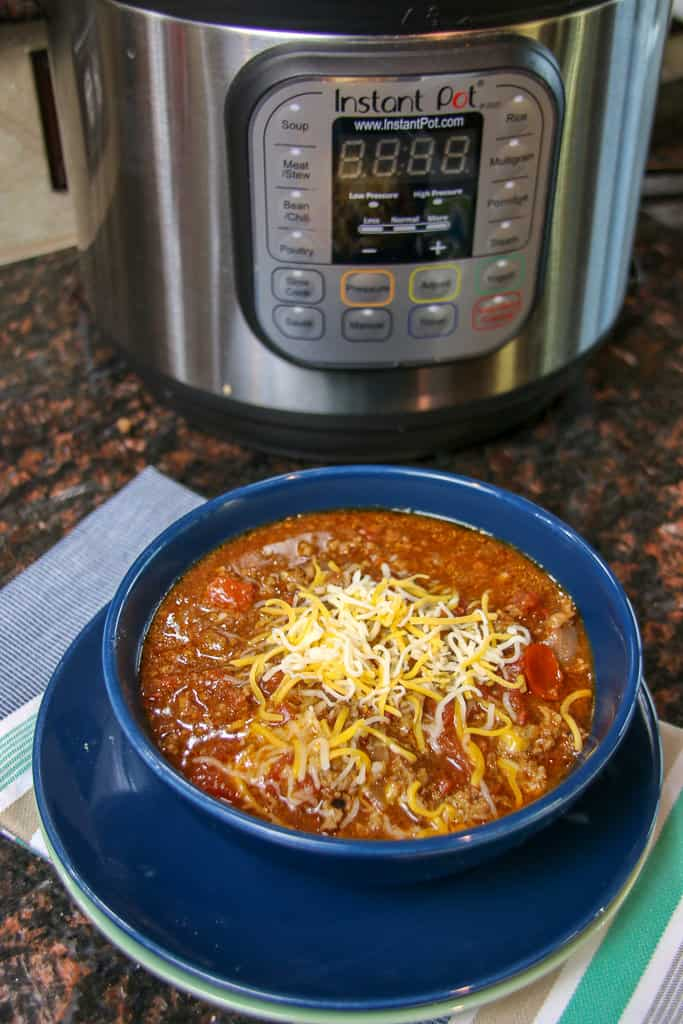 Quick Keto Chili Recipe Made in the Pressure Cooker #cooker #diet #keto #recipes #paleo