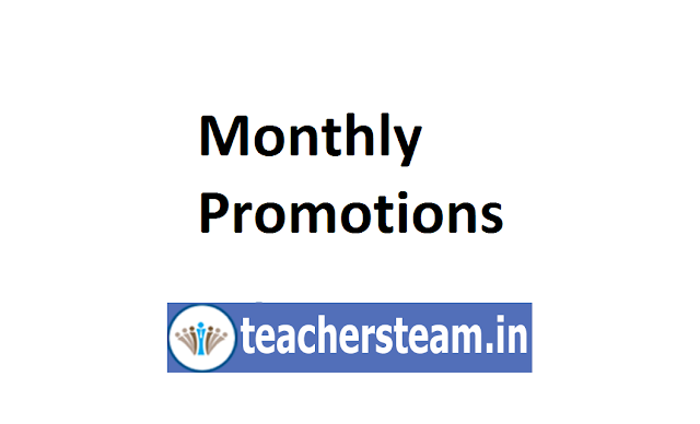 Monthly Promotions to the post of HM and School Assistants on adhoc basis - orders by CSEAP