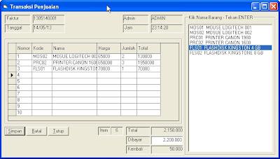 Gratis Aplikasi Penjualan Dengan VB 6.0