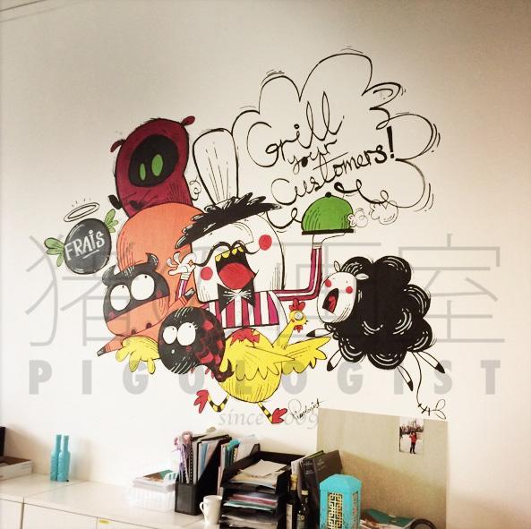 Character Design Agency : P i g o l s t 猪の画室 singapore illustration
