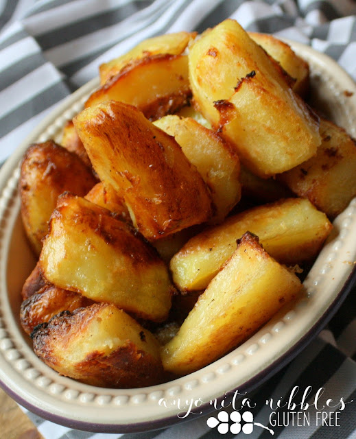 Cruelty-free gluten free crispy roast potatoes from Anyonita Nibbles