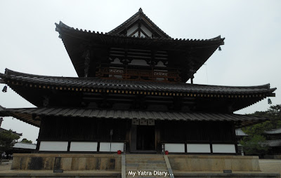 Kondo or the Main Hall of the Horyu-ji Temple in Nara