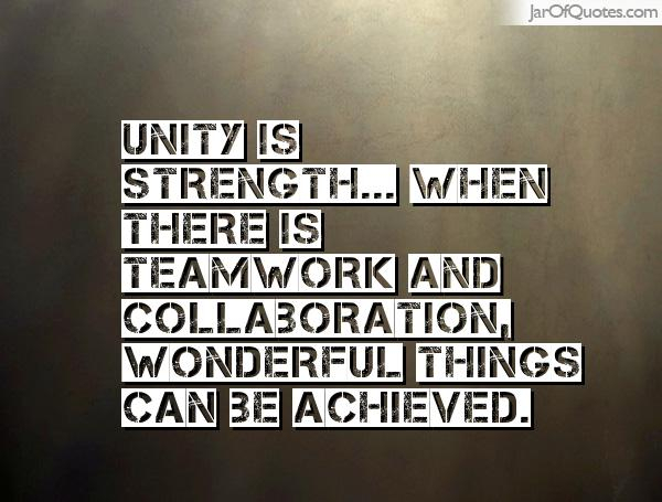 Illuminated Living Unity Is Strength Division Is Weakness