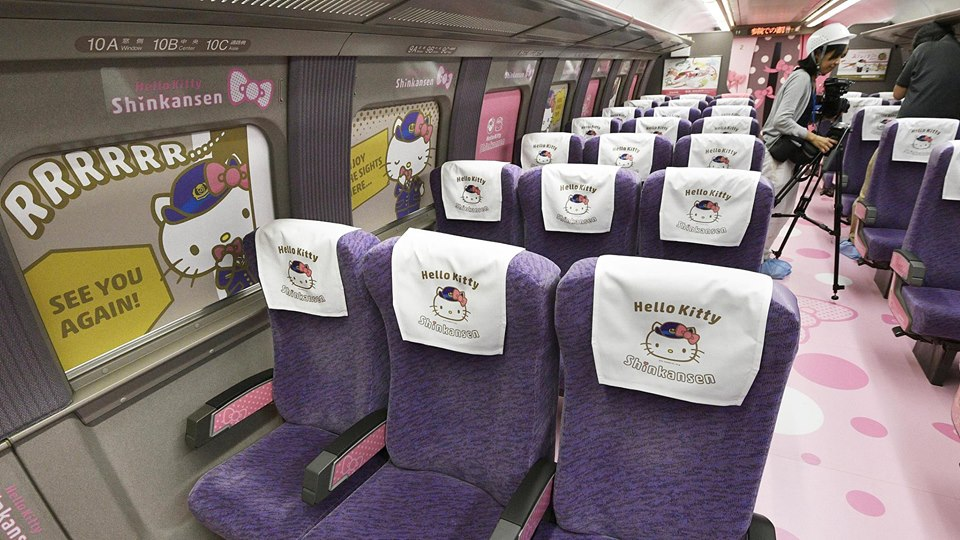 Hello Kitty Shinkansen: Adorable bullet train unveiled in Japan