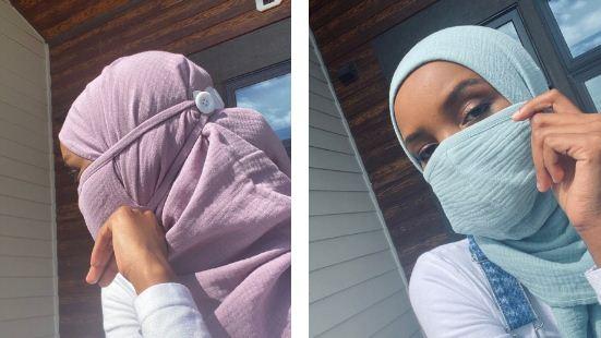 Desain Masker untuk Muslimah Berjilbab - Hijaber