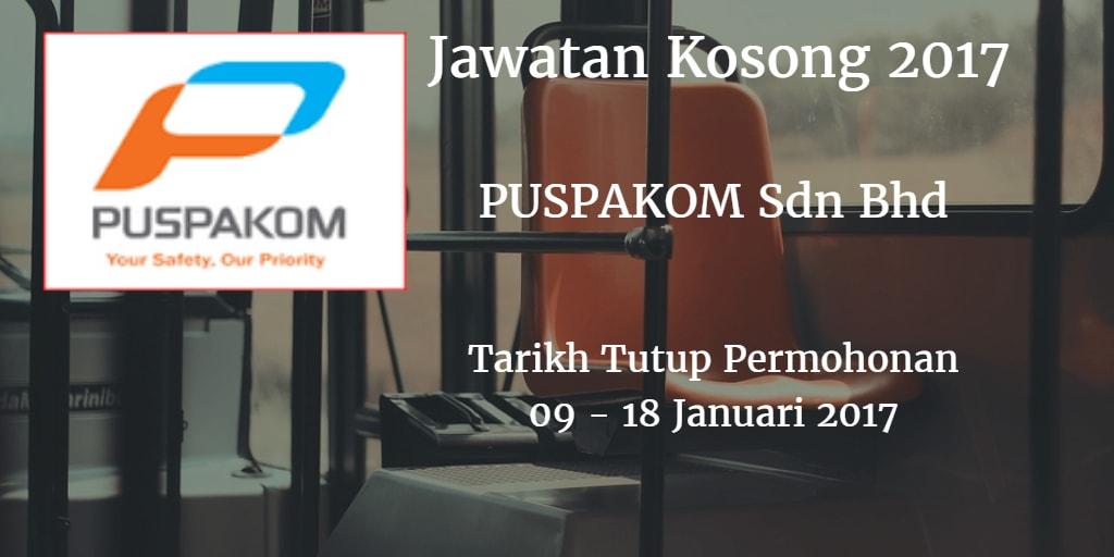 Jawatan Kosong PUSPAKOM Sdn Bhd 08 -19 Januari 2017