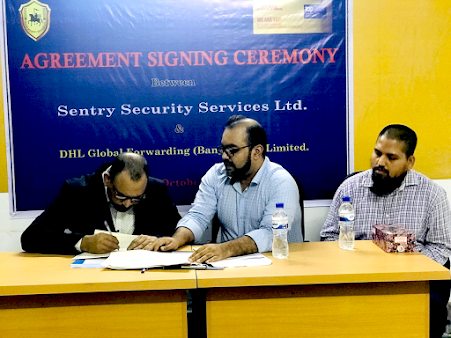 A contract signing ceremony took place between SSSL & DHL enhancing the security services.