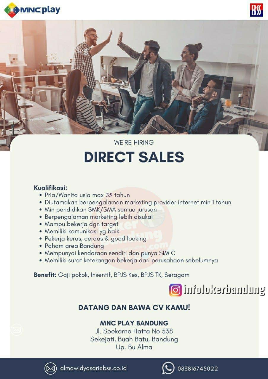 Lowongan Kerja Direct Sales PT. MNC Kabel Mediacom ( MNC Play Media Bandung ) Bandung Juni 2021