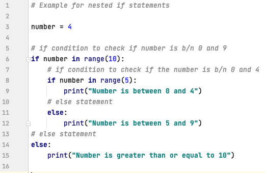 Nested if statements in Python
