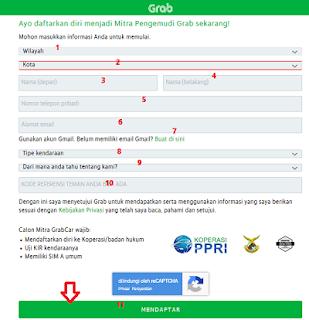 Cara Daftar GRAB Bangkalan Jawa Timur Online