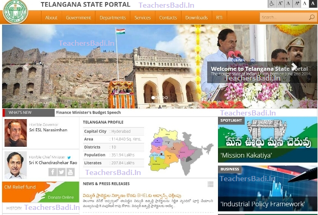 www.telangana.gov.in Telangana State Portal, Web Portal, New Official Website, Telangana State Government Official Website is going to start and it is functioning under IT supervision and designing with international standards, features. Welcome to Telangana State Portal, Telangana govt portal gets a new look