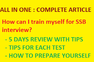 How can I train myself for SSB interview