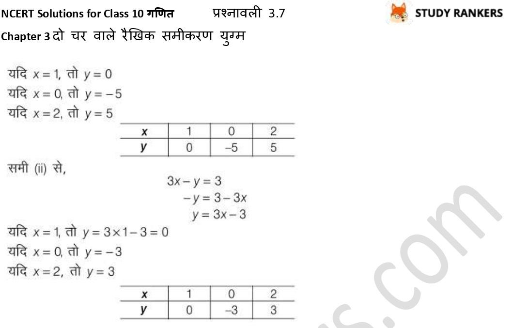 NCERT Solutions for Class 10 Maths Chapter 3 दो चर वाले रैखिक समीकरण युग्म प्रश्नावली 3.7 Part 6
