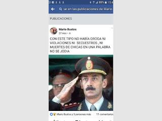 Mario Bustos elogió al represor en Facebook. Una repartición local lo denunciará por apología del delito.