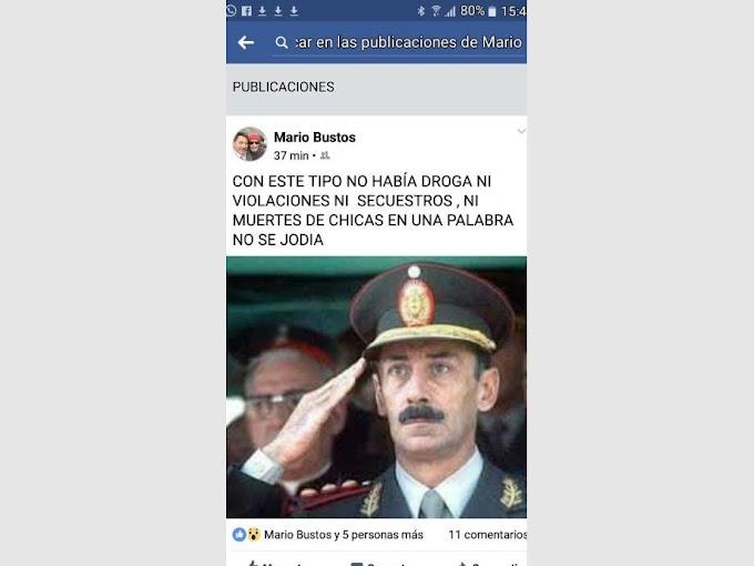 Un exfuncionario de Caucete sumó otro escándalo al reivindicar al dictador Videla 
