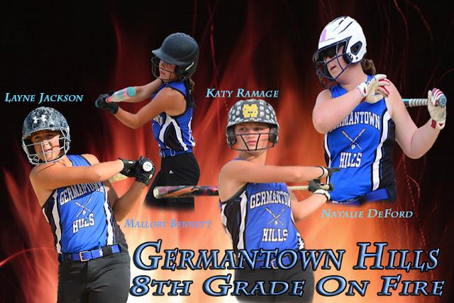 Germantown Softball 8th Grade On Fire