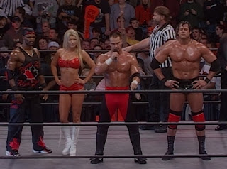 WCW Sin 2001 Review - Team Canada (from L-R: Elix Skipper, Major Gunns, Lance Storm and Mike Awesome)
