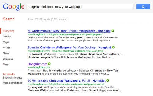 Search techniques in Google