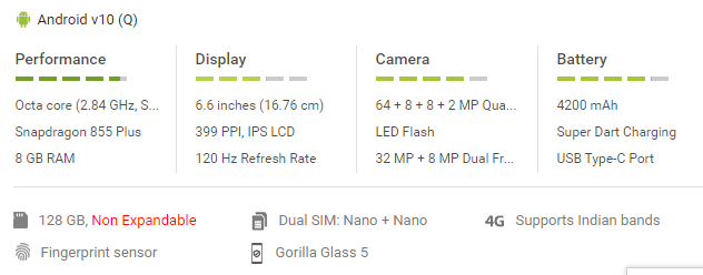 Superzoom Realme x3 and Super speed.