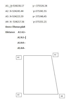 calcul distance entre 2 points en coordon es topographie et genie civil. Black Bedroom Furniture Sets. Home Design Ideas