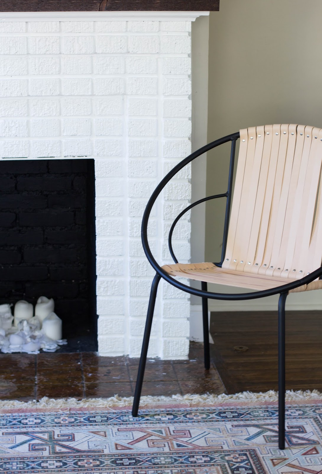 always rooney DIY Leather Acapulco Chair  Target Hack