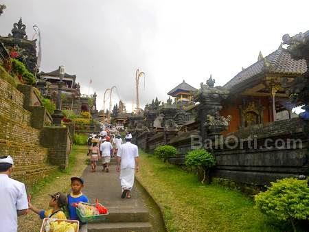 Besakih Temple in Mount Agung, volcano in Bali