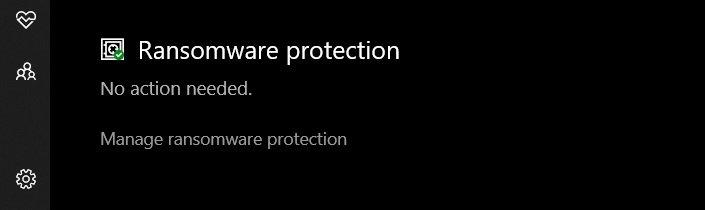 Klik opsi 'Kelola perlindungan Ransomware'