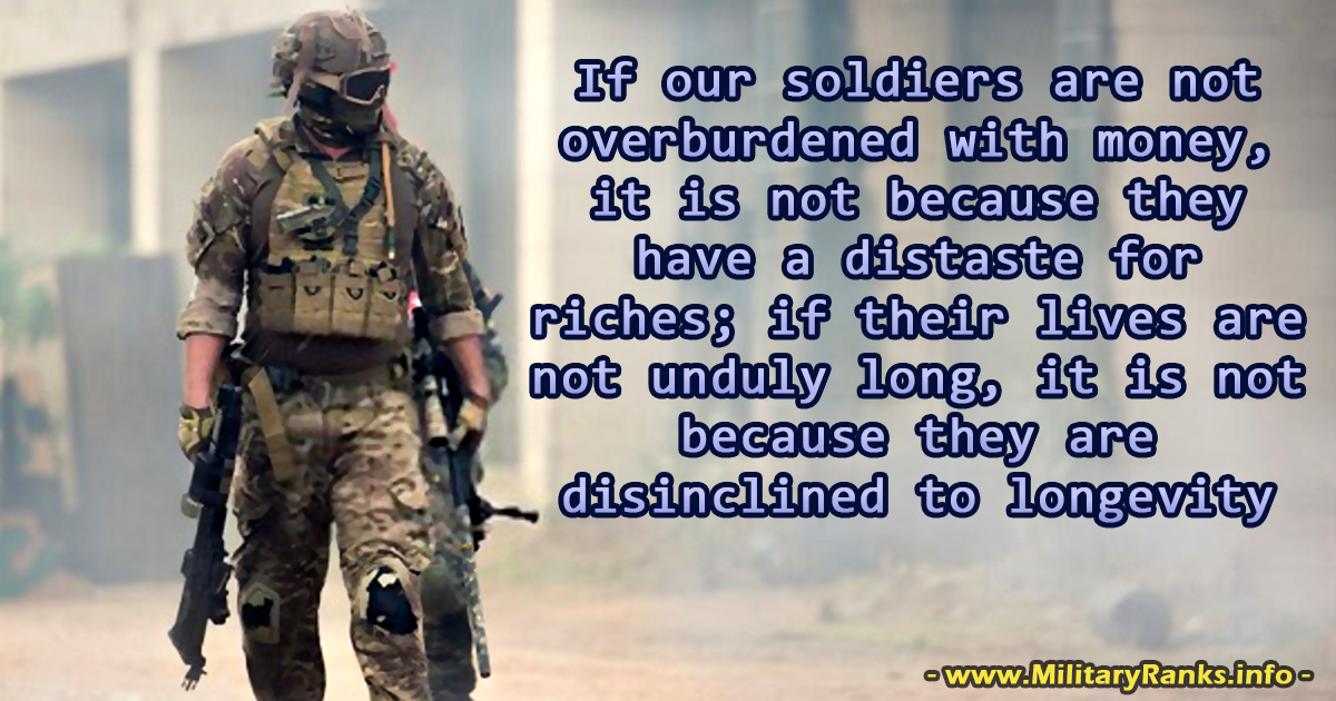 If our soldiers are not overburdened Military Quotes
