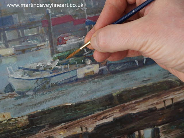 painting boat oil landscape painting WIP martin davey