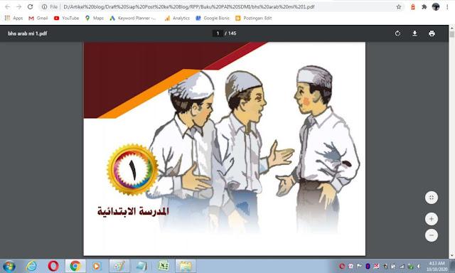 Buku bahasa arab kelas 1 sd/mi sesuai kma 183 tahun 2019