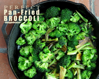 Perfect Pan-Fried Broccoli, another quick, healthy recipe ♥ A Veggie Venture. Weight Watchers Friendly. Low Carb. Low Fat. Year-Round Staple. Weeknight Easy, Weekend Special. Rave Reviews. Gluten Free. Whole30 Friendly. Vegan.