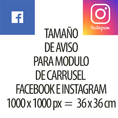 Carrusel de Facebook e Instagram