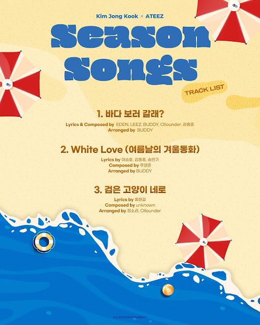 ATEEZ y Kim Jong Kook se unen para Season Songs