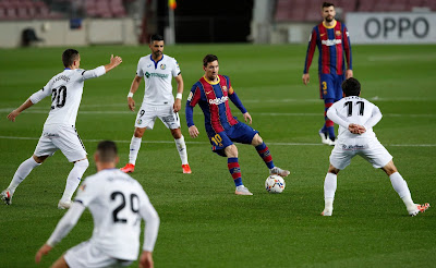 ملخص واهداف مباراة برشلونة وخيتافي (5-2) الدوري الاسباني