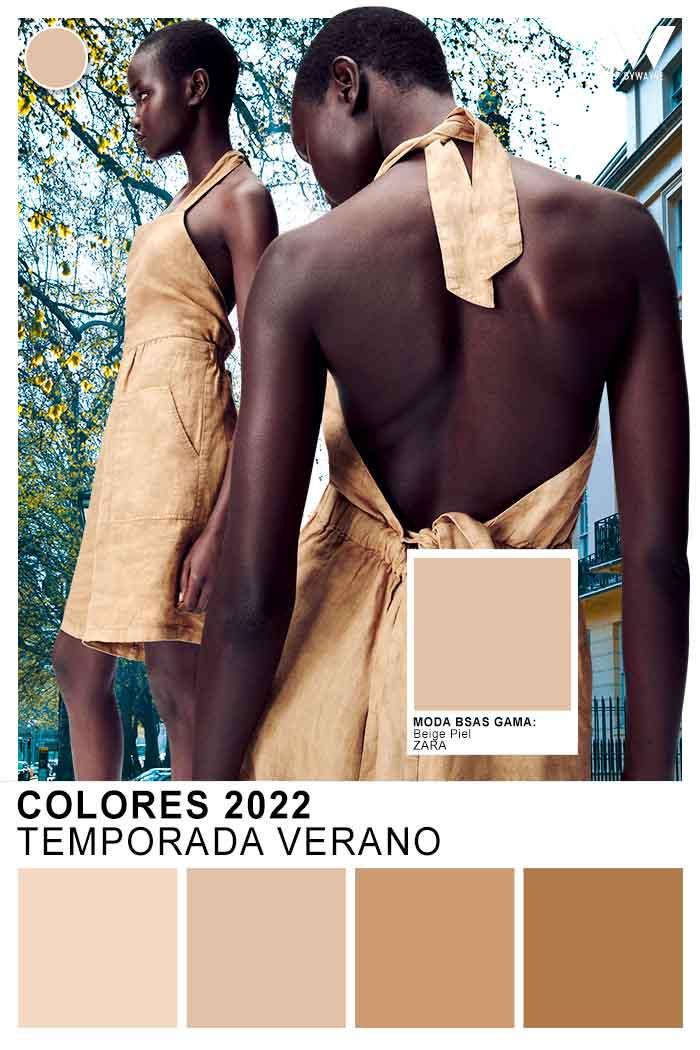 colores de moda verano 2022 beige